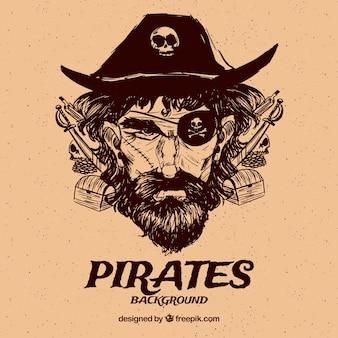 ヴィンテージ海賊キャプテンの背景
