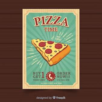 Vintage pizza brochure template