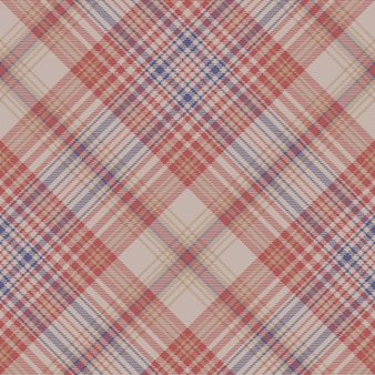 Vintage plaid fabric texture seamless pattern
