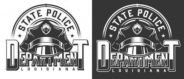 Vintage policeman logotype template