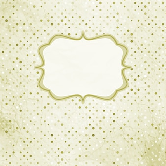 Vintage polka dot card. and also includes