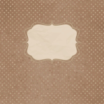 Vintage polka dot card with lace.