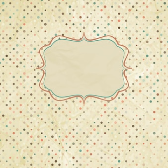 Vintage polka dot card.