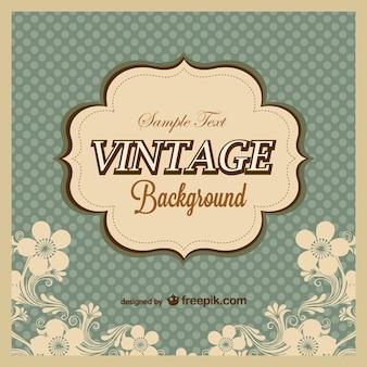 Vintage polka dots background  template