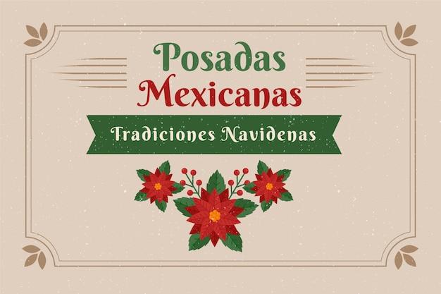 빈티지 posadas mexicanas 배경