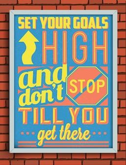 Ретро старинные мотивационный плакат