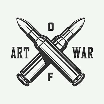 Vintage poster with bullets art of war