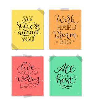 Vintage poster with motivation quote on abstract background