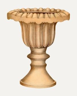 Винтажная керамическая ваза, векторная иллюстрация, ремикс из работы энни б. джонстон