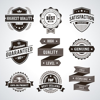 Vintage premium quality labels