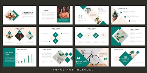 Vintage presentation template set