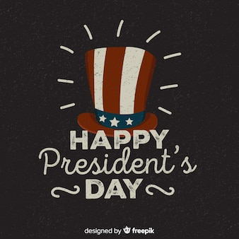 Vintage president's day background