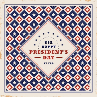 Vintage president's day with geometric shapes design