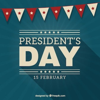 Vintage presidents day background with a garland