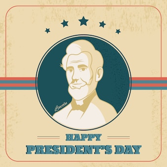 Vintage presidents day concept