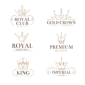 Vintage princess vector labels and logos
