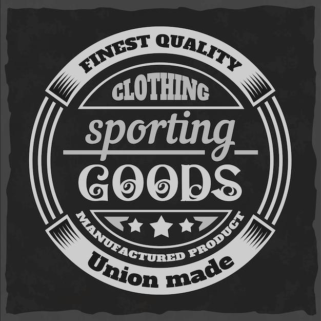 Tシャツやアパレルのヴィンテージプリント。ファッションと印刷のための白黒のレトロなアートワーク。