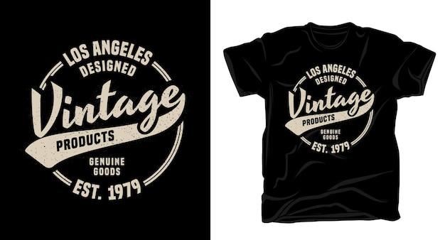 Винтажные продукты типография дизайн футболки
