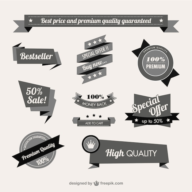 Vintage quality guaranteed banner