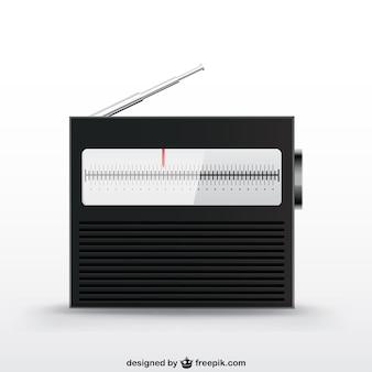 Vintage radio device vector