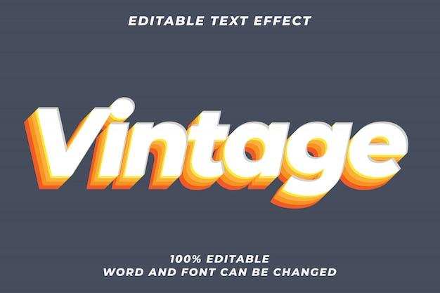 Vintage rainbow text style effect premium