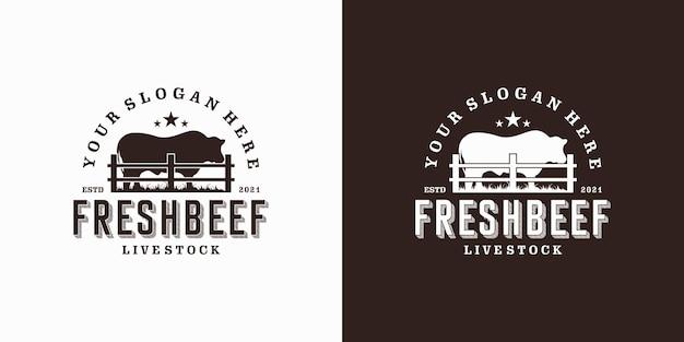 Винтажный логотип ранчо