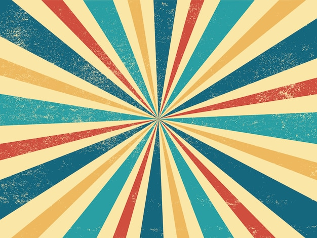 Vintage ray retro sunburst background