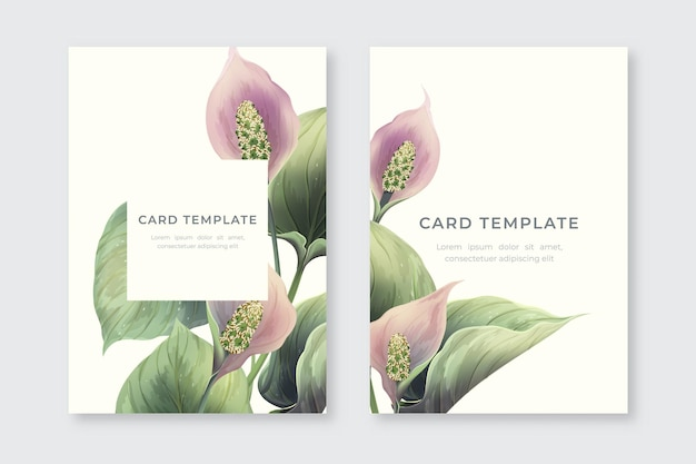 Vintage realistic cover design with flowers