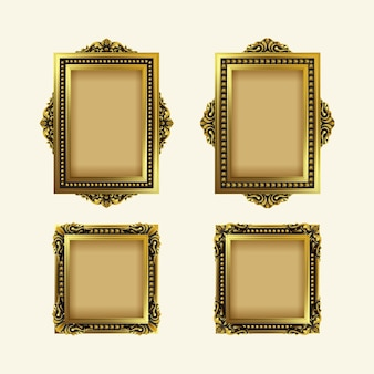Vintage realistic frame collection