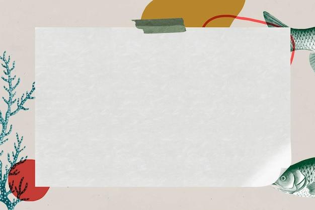 Винтажная прямоугольная рыбная рамка