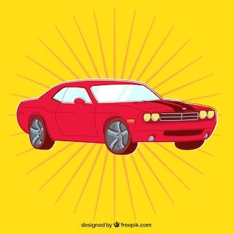 Урожай красный автомобиль
