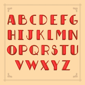 Vintage red christmas alphabetical letters