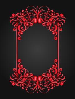 Vintage red frame background