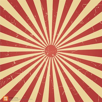 Vintage red rising sun or sun ray, sun burst retro background design