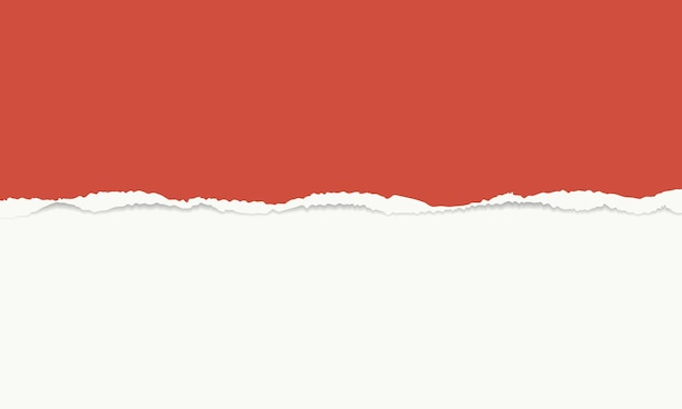 Vintage red and white torn paper vector background