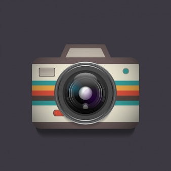 カラーストライプヴィンテージレフレックスカメラ