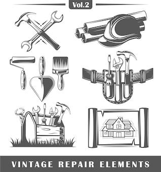 Vintage repair elements set