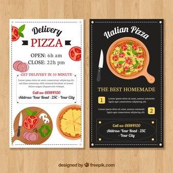 Annata brochure del cibo italiano