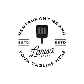 Винтажный дизайн логотипа ресторана