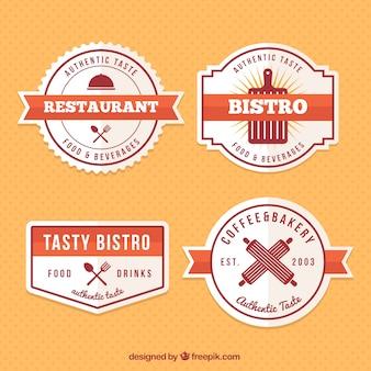 ビンテージ・レストランのロゴとバッジ