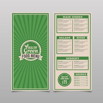 Винтажный дизайн шаблона меню ресторана