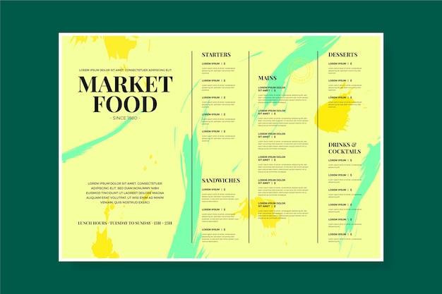 Vintage restaurant menu template design