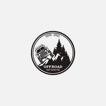 Vintage retro adventure offride logo design