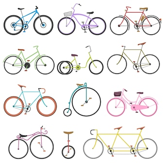 Vintage retro bicycle set
