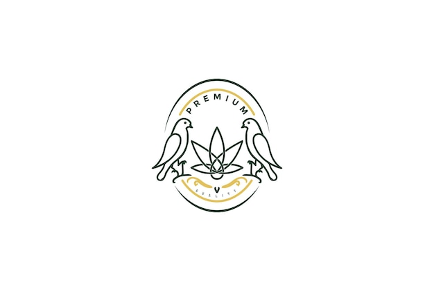 Cbd 오일 추출물 로고 디자인 벡터를 위한 대마초 마리화나 간자 잎이 있는 빈티지 레트로 새