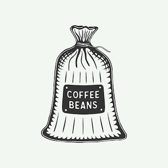 Vintage retro coffee pack can be used for label