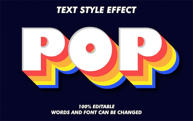 Vintage retro and colorful text style effect