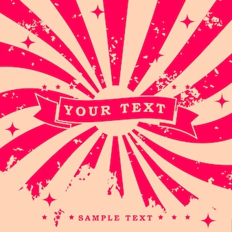 Vintage retro design background with twist pattern grain texture effect and text sample