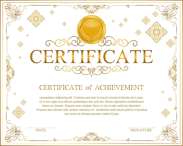 Винтажный ретро-рамочный сертификат