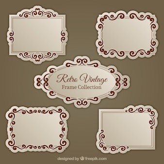 Vintage retro frames